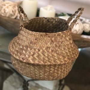 Other - Foldable Hand Woven Seagrass  Basket.